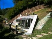 Gewächshaus ist vor Erosionen und Schotter geschützt