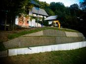 Unsere grüne Stützmauer benötigt keinerlei Fundament